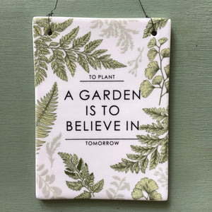 Puriri Lane | To Plant A Garden Is To Believe In Tomorrow | Audrey Hepburn