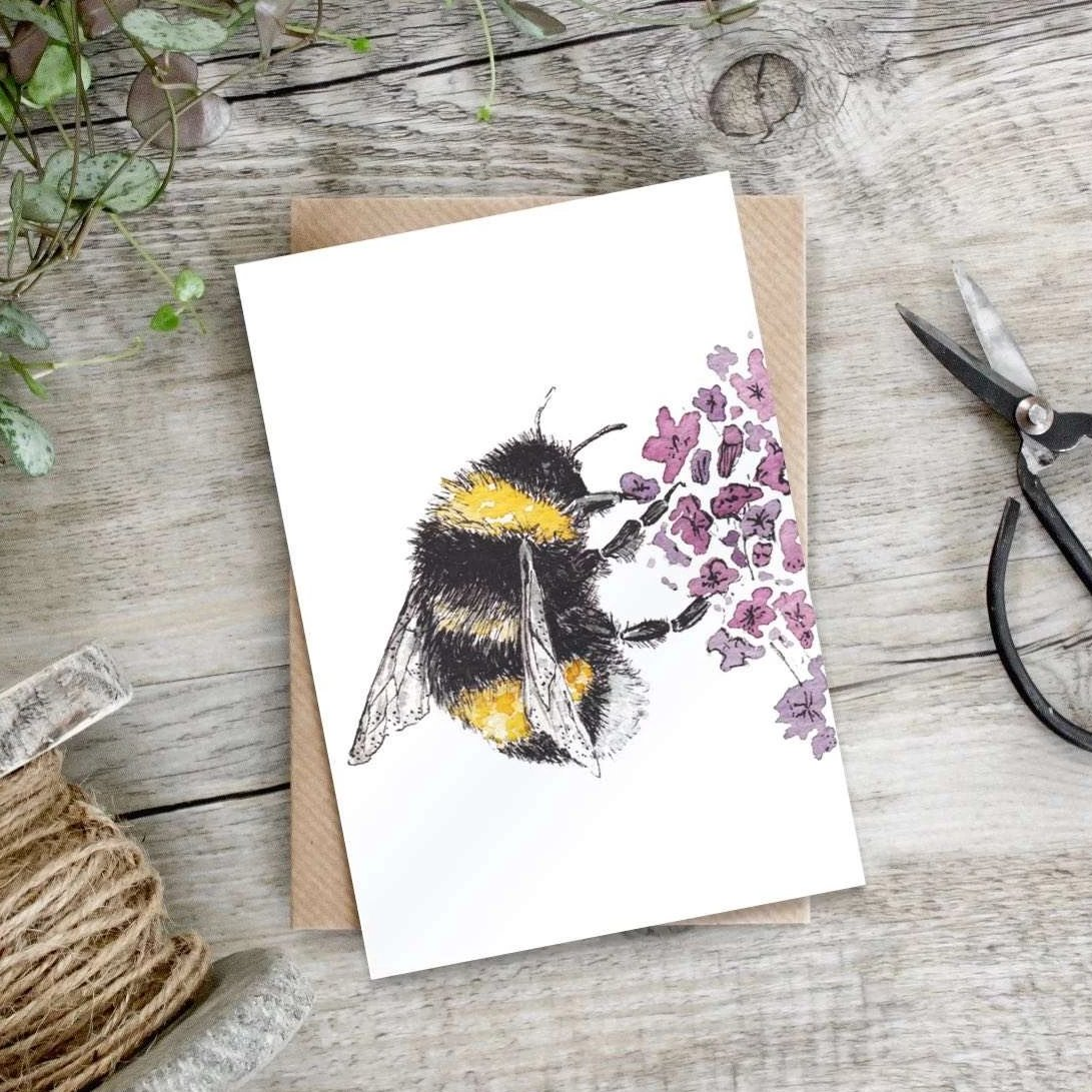 Puriri Lane | Bumblebee & Lavender | Card