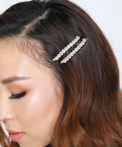 Crystal Clear Hair Pins