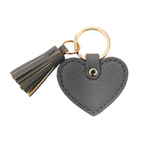 Grey Heart Tassle Keyring