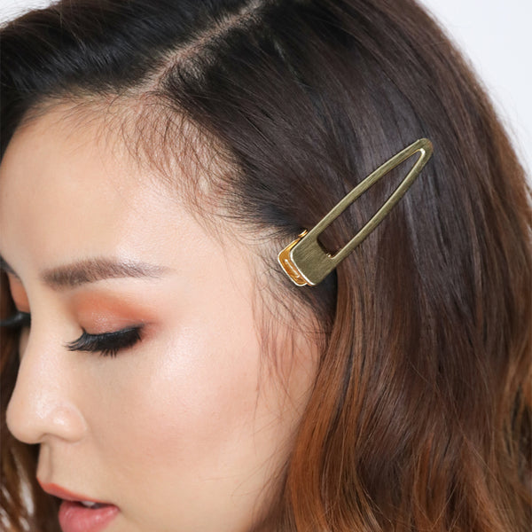 Hollow Gold Hair Clips