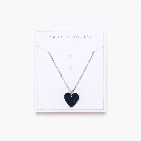 Sweet Heart Necklace - Silver