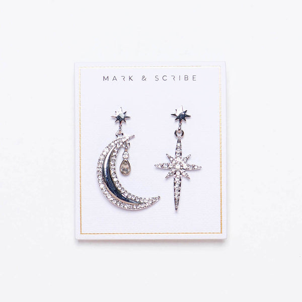 Luna Glow Earrings - Silver