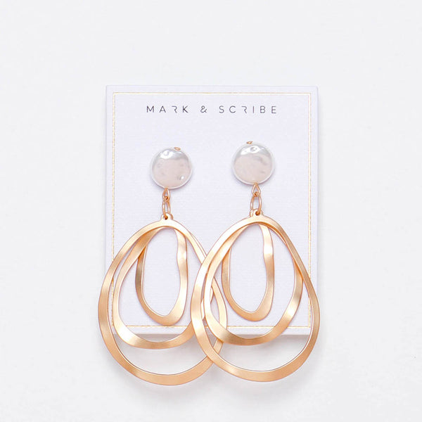 Ellipse Pearl Earrings