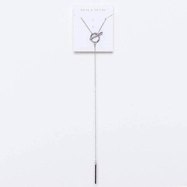 Astrid T-Bar Necklace - Silver