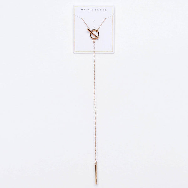 Astrid T-Bar Necklace - Gold