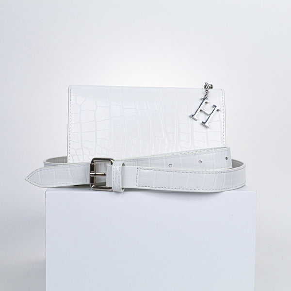 Milly Multi-Wear Bag - White Croc