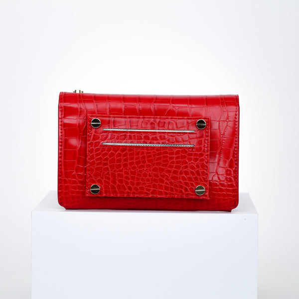 Milly Multi-Wear Bag - Red Croc