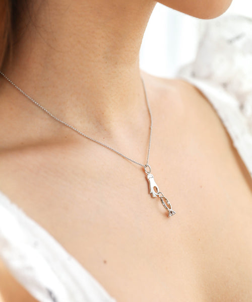 Say I Do Necklace - Silver