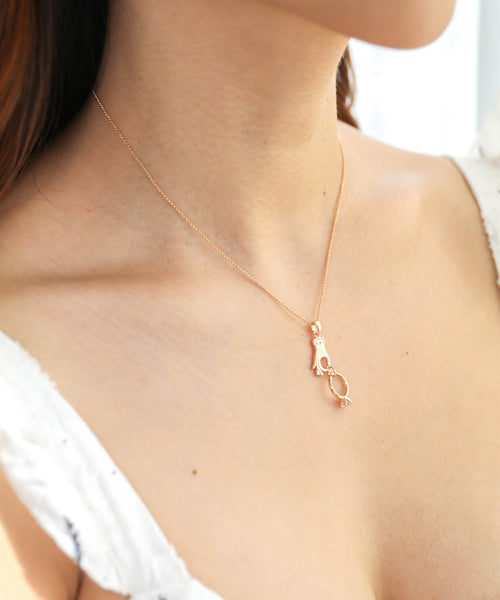 Say I Do Necklace - Gold