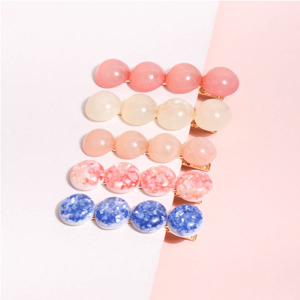 Cream Candy Hair Clips