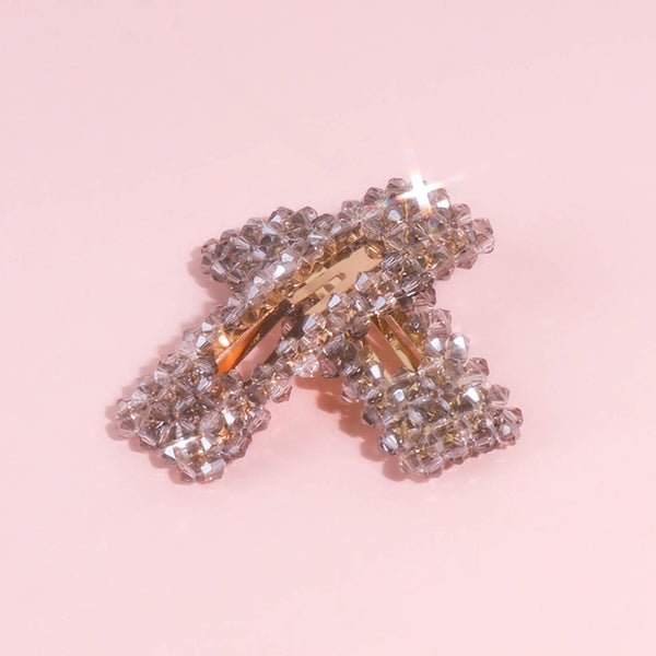 Crystal Cloud Beads Hair Clips