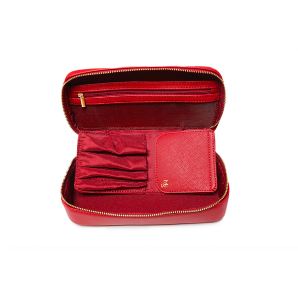 Medium Red Cosmetic Case