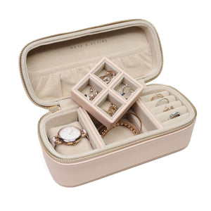 Pink Watch and Jewellery Case