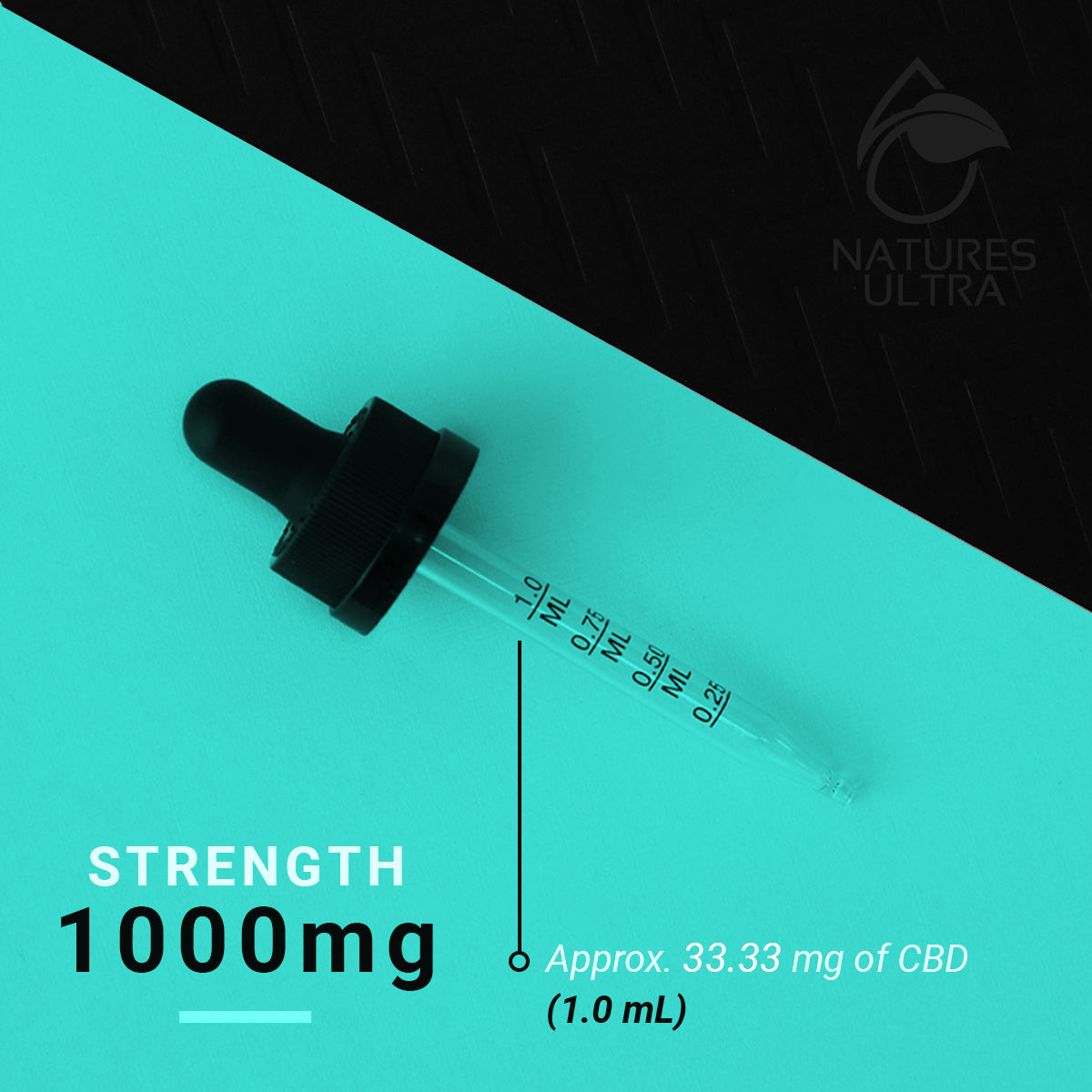 Nature's Ultra CBD Oil Dropper 1000mg