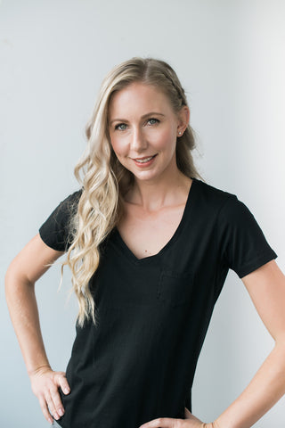 Bella V-Neck - Black