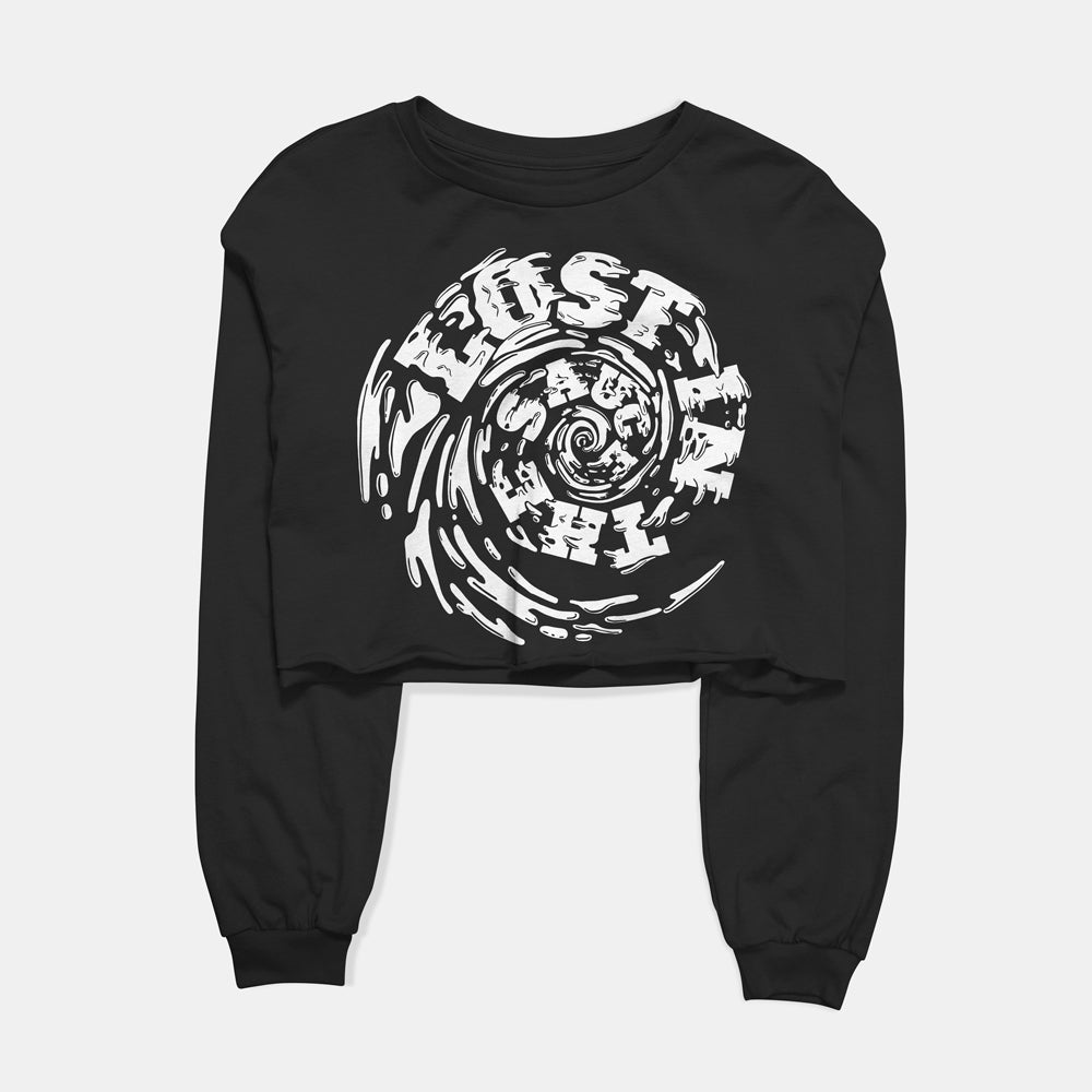 Lost in the Sauce Cropped Long Sleeve Tee