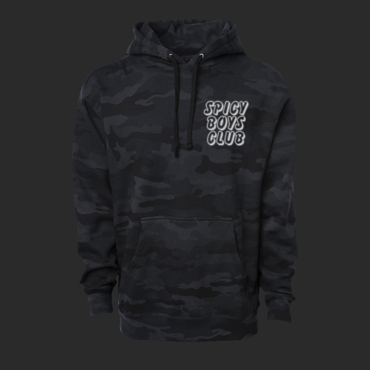 Reflective Spicy Boys Club Heavyweight Pullover Hoodie - Adventure Brand