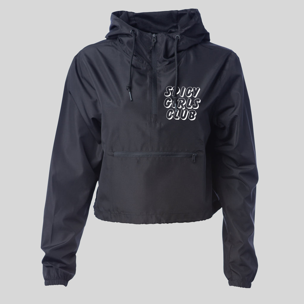 Spicy Girls Club Cropped Windbreaker Jacket