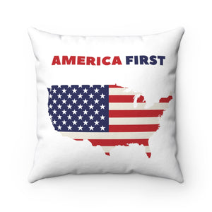 America First - Square Pillow - Patriotic