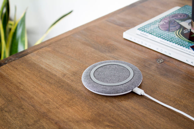 chargeONE | stone gray | the modern fast wireless charger - STARQ