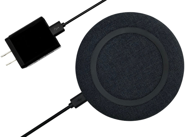 chargeONE | charcoal black | the modern fast wireless charger - STARQ