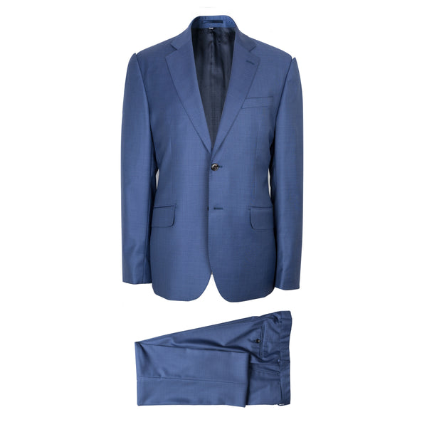 Hardy Amies Savile Row Blue Brinsley Fit Suit