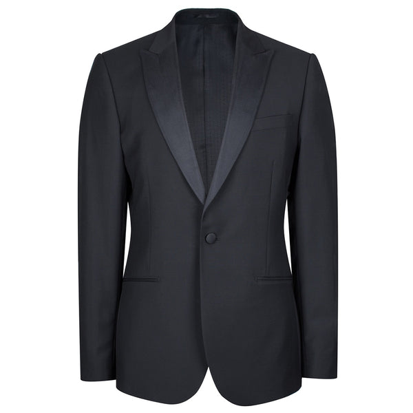 Black Wool & Mohair Dinner Jacket