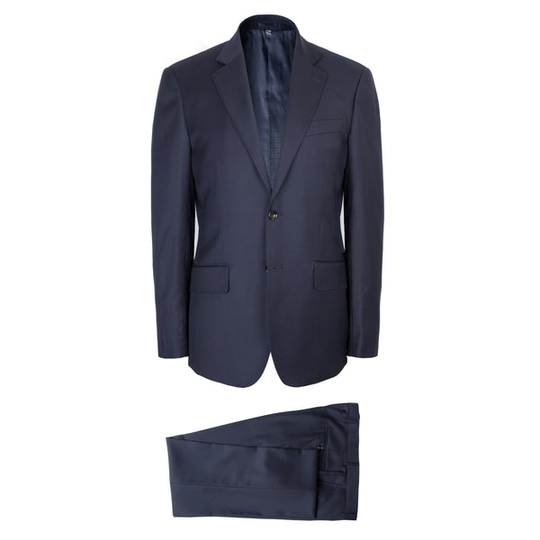 Solid Navy Blue Wool Twill Brinsley Fit Suit