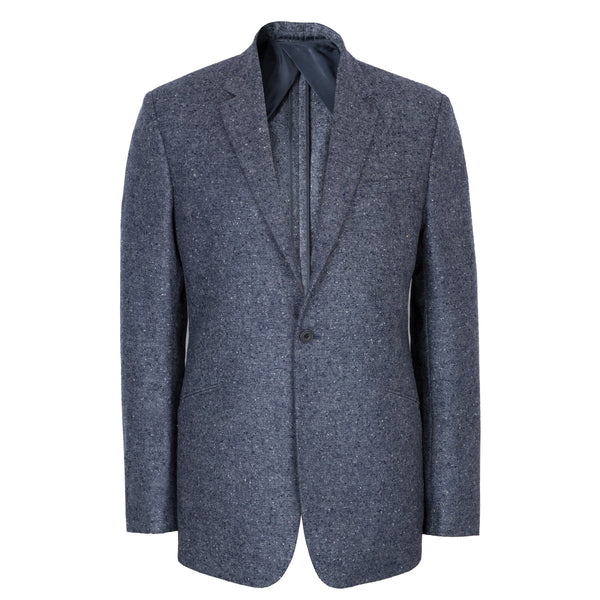 Kilgour Savile Row Blue Donegal Tweed Jacket Made In Italy