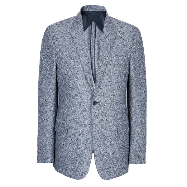Kilgour Savile Row Blue & White Woven Linen Jacket Made In Italy