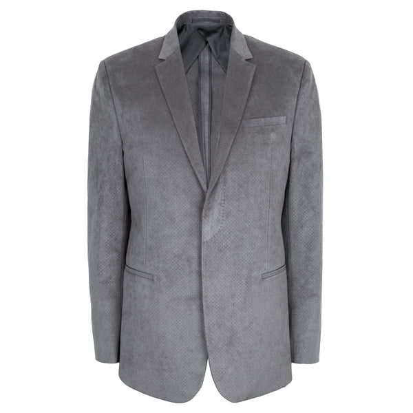 Mid Grey Pure Perforated Alcantara Jacket