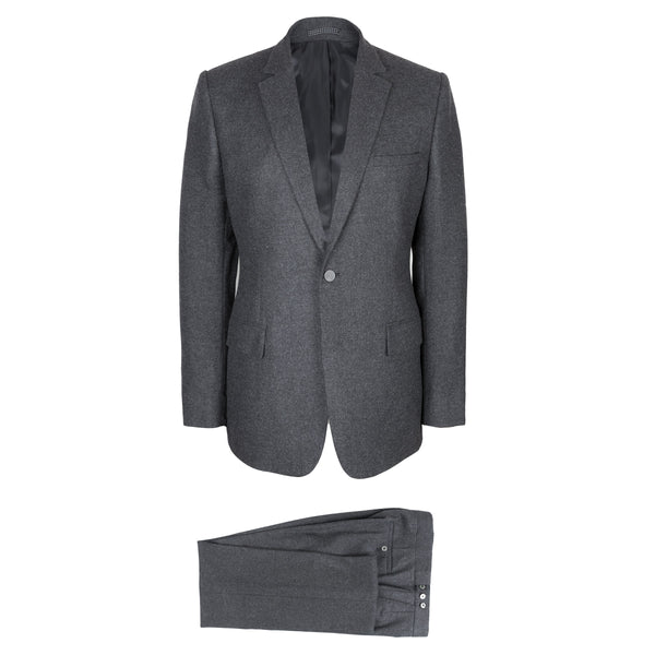 Luxury Grey Wool Flannel Suit
