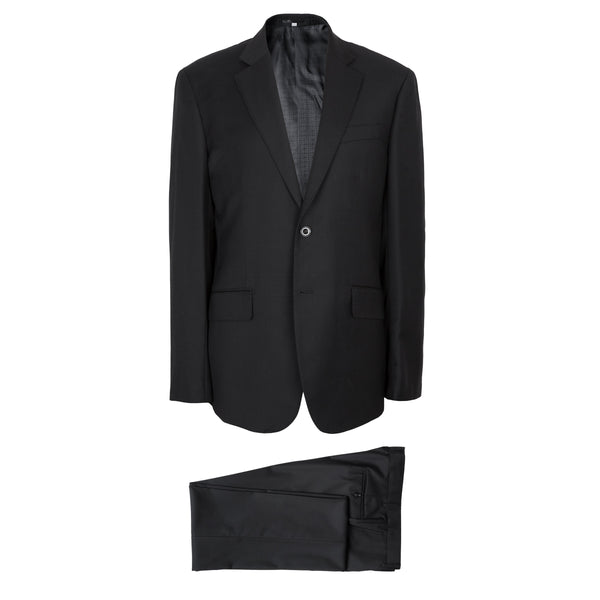 Hardy Amies Savile Row Solid Black Brinsley Fit Suit