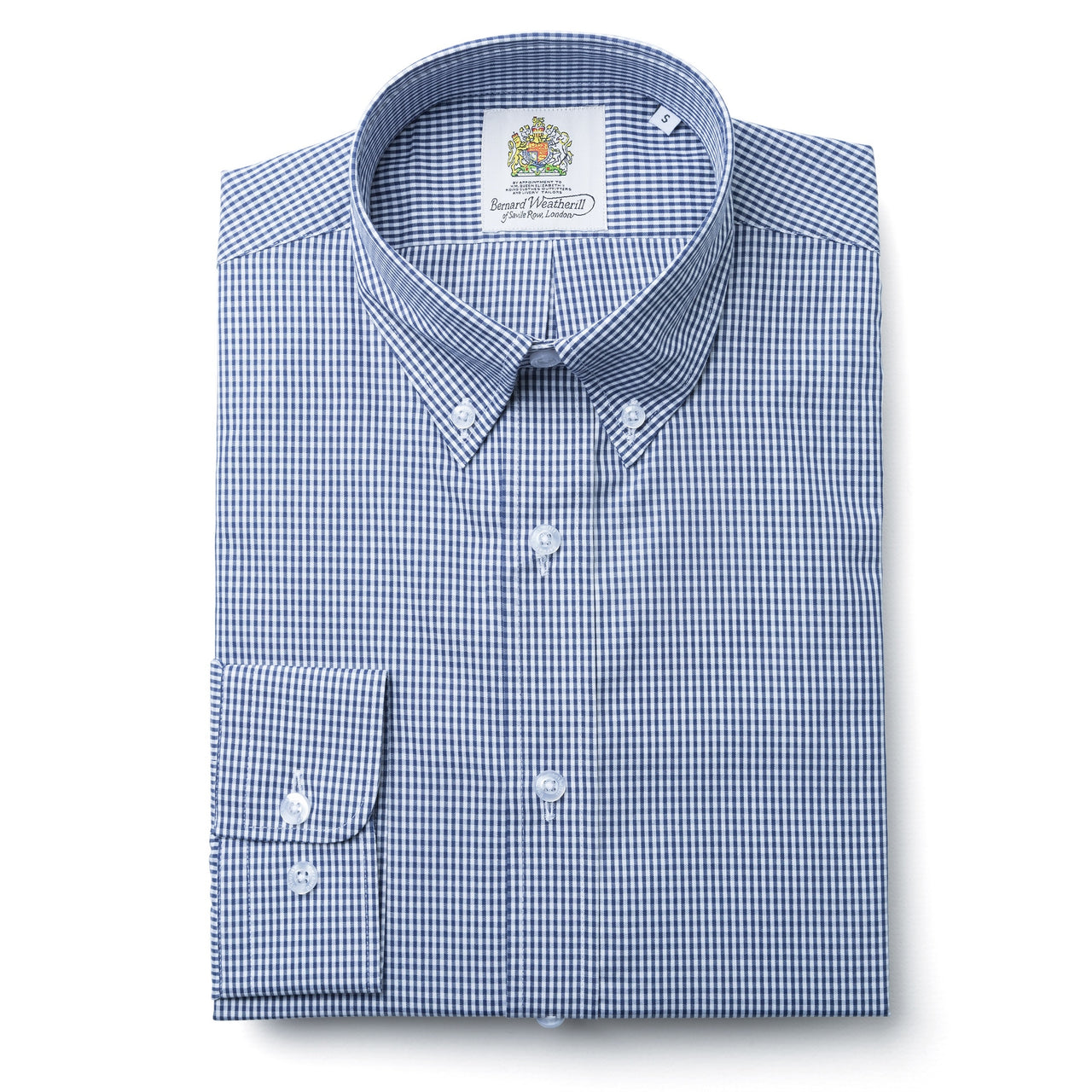 Bernard Weatherill Blue & White Check Button Down Shirt