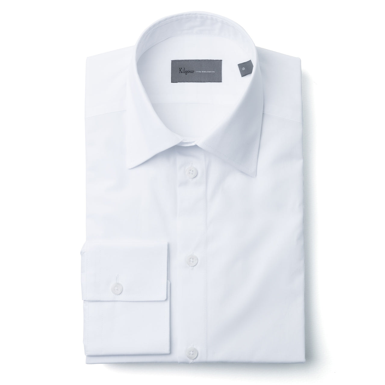 Kilgour Savile Row Solid White Luxury Cotton Shirt