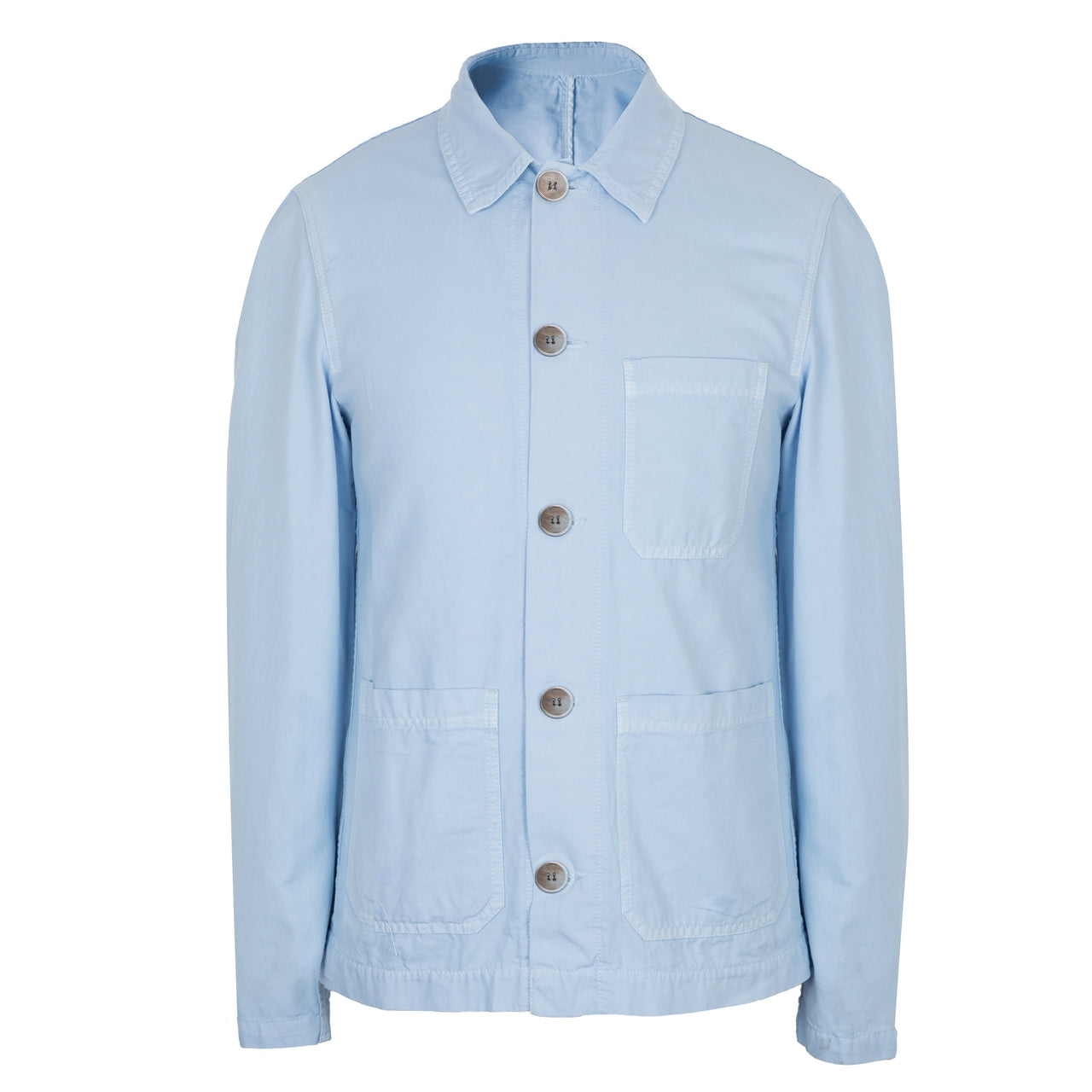 Hardy Amies Light Blue Chambray Shirt Jacket Made In England
