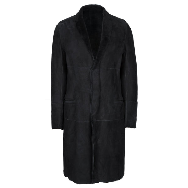 Black Pure Shearling Overcoat
