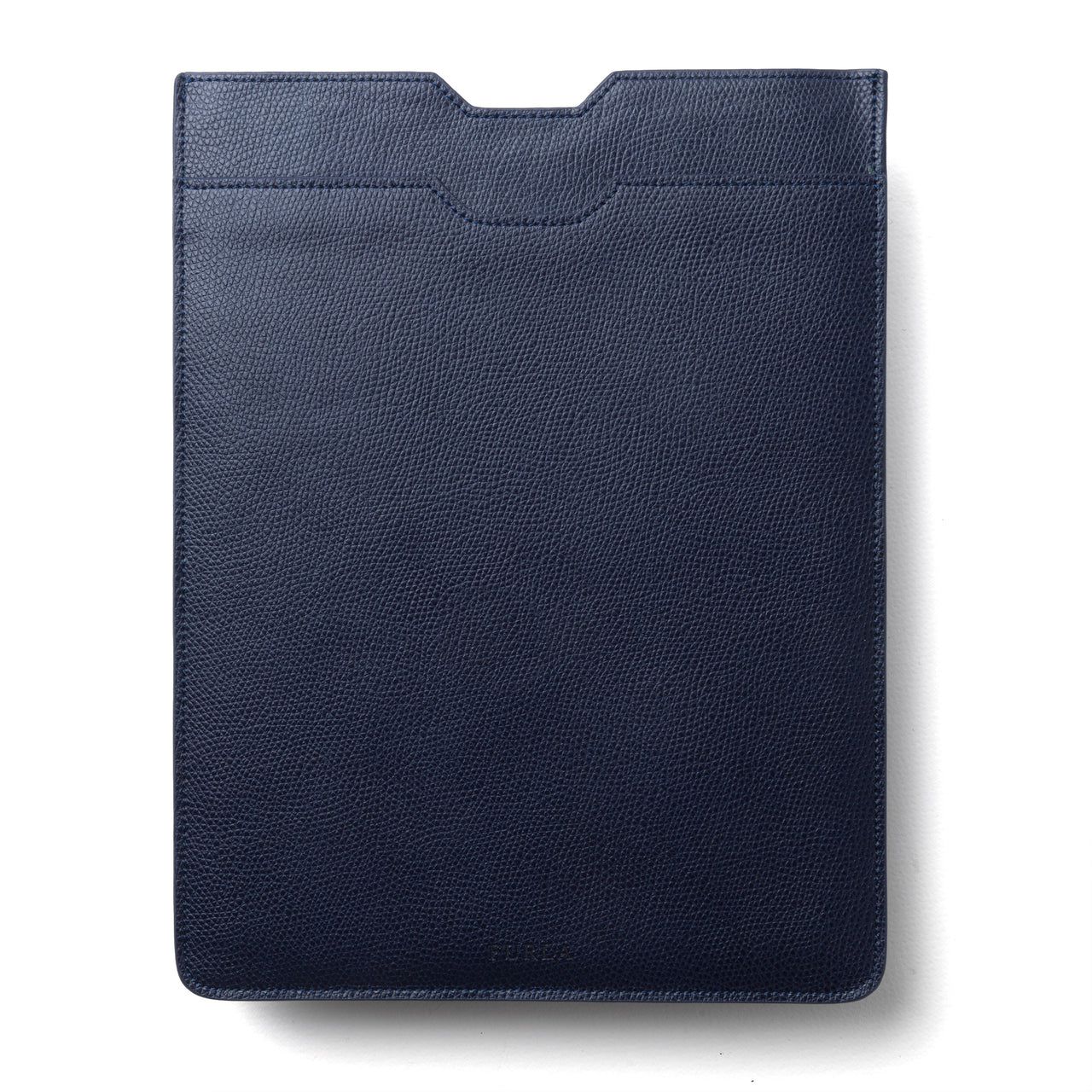 Navy Blue Grained Leather iPad Case