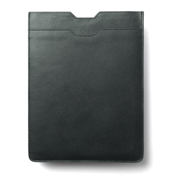 Green Grained Leather iPad Case