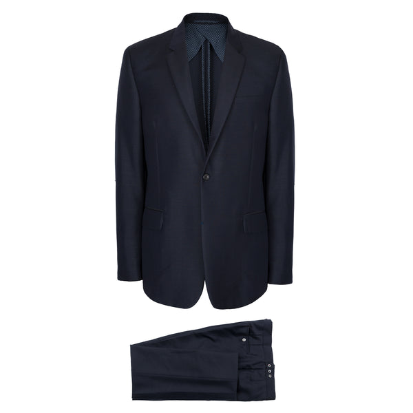 Navy Blue Wool & Mohair Suit