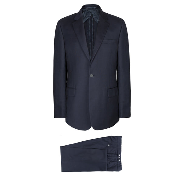 Luxury Navy Blue Wool Suit