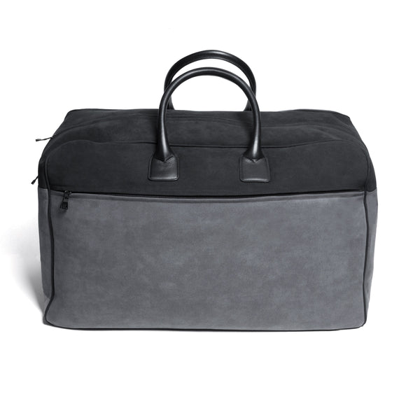Kilgour Savile Row Leather & Alcantara Wool Lined Weekend Bag Made In Italy