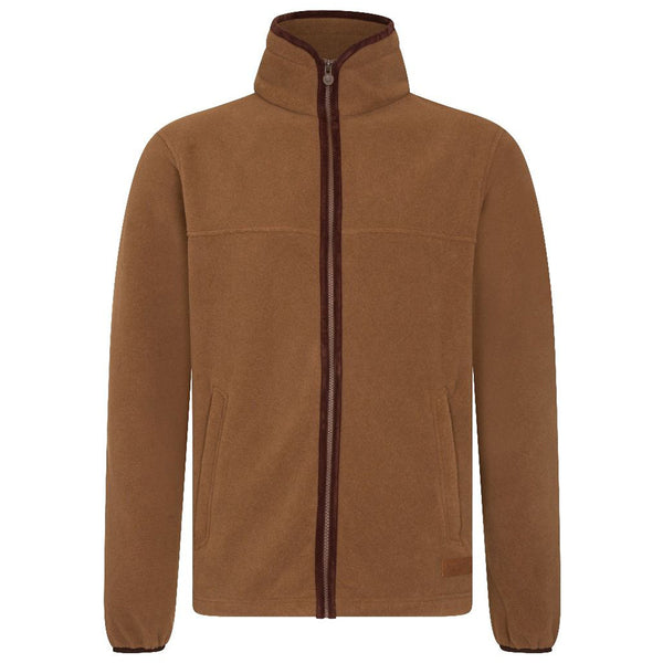MEN'S ZIP THROUGH FLEECE - COFFEE
