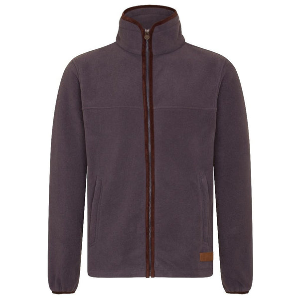 MEN'S ZIP THROUGH FLEECE - GUNMETAL