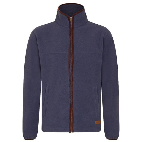 MEN'S ZIP THROUGH FLEECE - NAVY