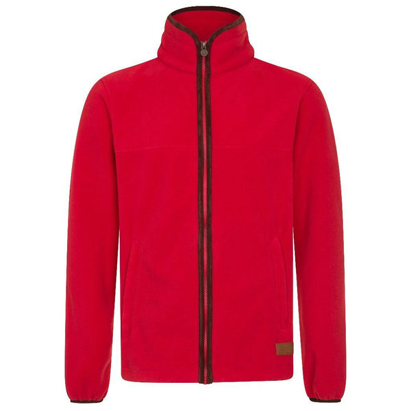MEN'S ZIP THROUGH FLEECE - RED