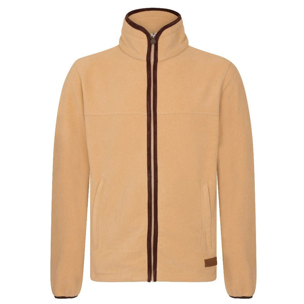 MEN'S ZIP THROUGH FLEECE - TAN