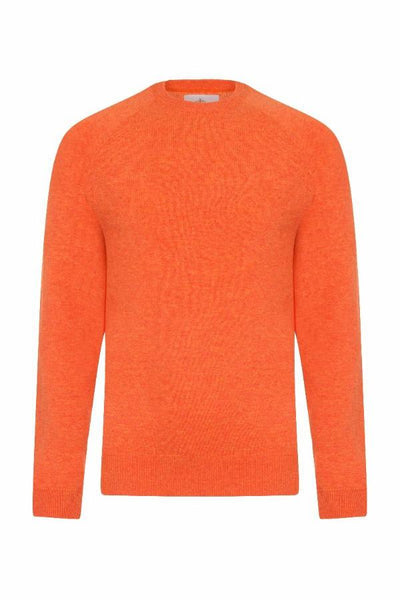 MEN'S CREW NECK CASHMERE - FLAMING