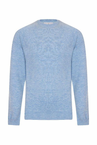 MEN'S CREW NECK CASHMERE - HAREBELL